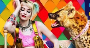 Harley Quinn and pet hyena from Birds of Prey promo