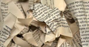 Image of crumpled book pages