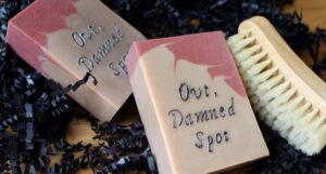 out damned spot soap