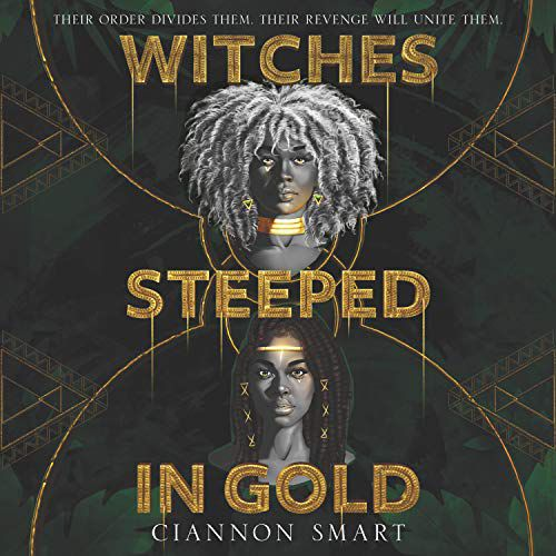 audiobook cover image of Witches Steeped in Gold