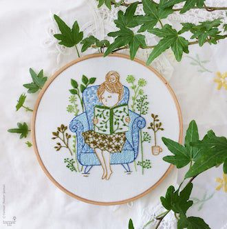 Reading Time Embroidery Kit