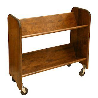 Wooden Library Cart